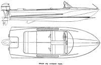 Общий вид моторной лодки