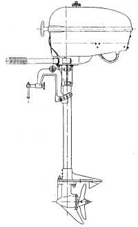 Общий вид нового лодочного мотора