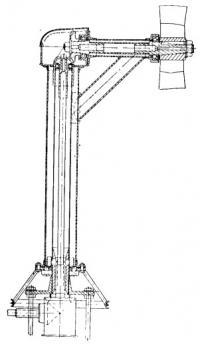 Общий вид пилона реверс-поворотного устройства