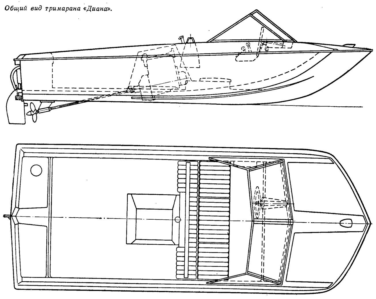 Общий вид тримарана «Диана»