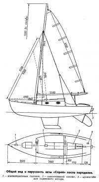 Общий вид яхты «Спрей» после переделки