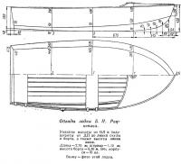 Обводы лодки Б. Н. Рацкевича