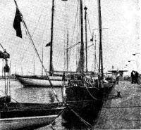 Орион в гавани яхт-клуба Котвица рядом с яхтами из ГДР