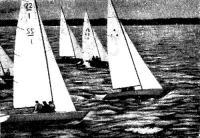 Отборочные гонки в Киле (на переднем плане «Шиллила», затем «Трайс», «Солинг» и «Трайэл»)