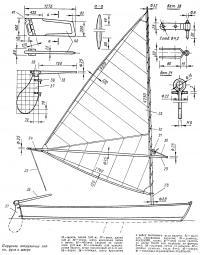 Парусное вооружение лодки, руль и шверт