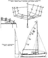 Парусное вооружение яхты «Пап-16»