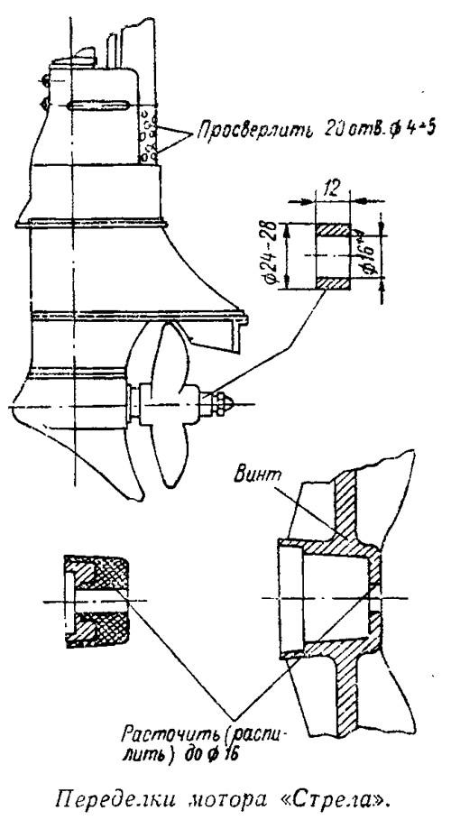 стрела лодочный моторчик тюнинг