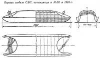 Первая модель СВП испытанная в МАИ в 1934 г