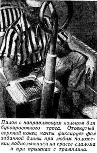 Пилон с направляющим кольцом для буксировочного троса