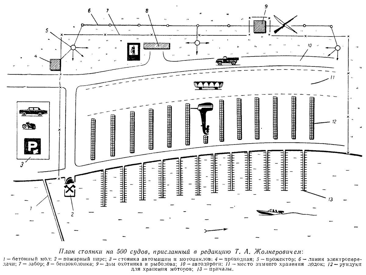 План стоянки на 500 судов