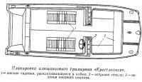 Планировка алюминиевого тримарана «Крестлайнер»