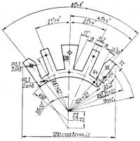 Пластина сердечника генераторных катушек