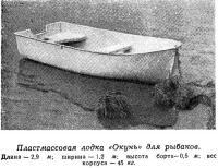 Пластмассовая лодка «Окунь» для рыбаков