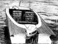 Пластмассовая лодка В. К. Машталира из Днепропетровска