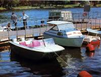 Пластмассовая мотолодка-тримаран «Агат-6» и фанерный миникатер «Арго»