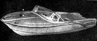 Пластмассовая моторная лодка