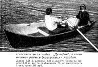 Пластмасссовая лодка Дельфин