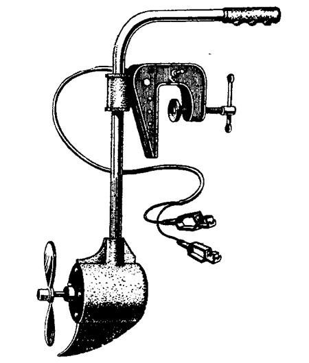 Подвесной электромотор самой малой мощности