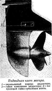 Подводная часть мотора