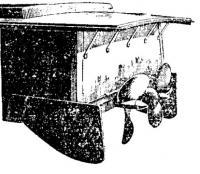 Полупогруженные винты и рули-плавники