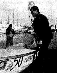 После финиша в Одессе. У лодки А. Гаврилин