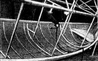 Поворотный кондуктор для сборки лодок на верфи в Хирвенсалми