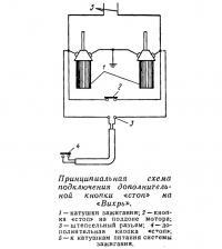 Принципиальная схема подключения дополнительной кнопки «стоп»