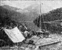 Привал во время плавания катамарана Э. Кудусова вдоль берегов Камчатки