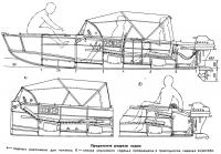 Продольные разрезы лодки