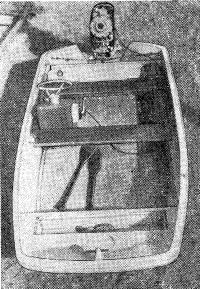 Прогулочная лодка «Снежинка». Вид сверху