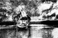Проходим водосброс на соединительном канале