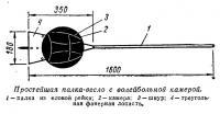 Простейшая палка-весло с волейбольной камерой