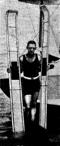 Ральф Самуэльсон с первыми водными лыжами