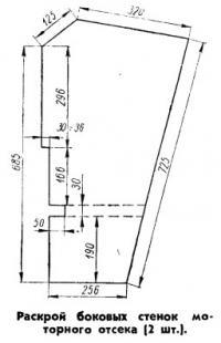 Раскрой боковых стенок моторного отсека