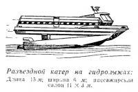 Разъездной катер на гидролыжах