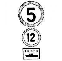 Разная максимальная скорость для судов различных размерений