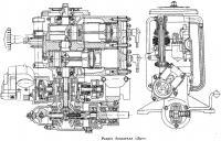 Разрез двигателя «Луч»