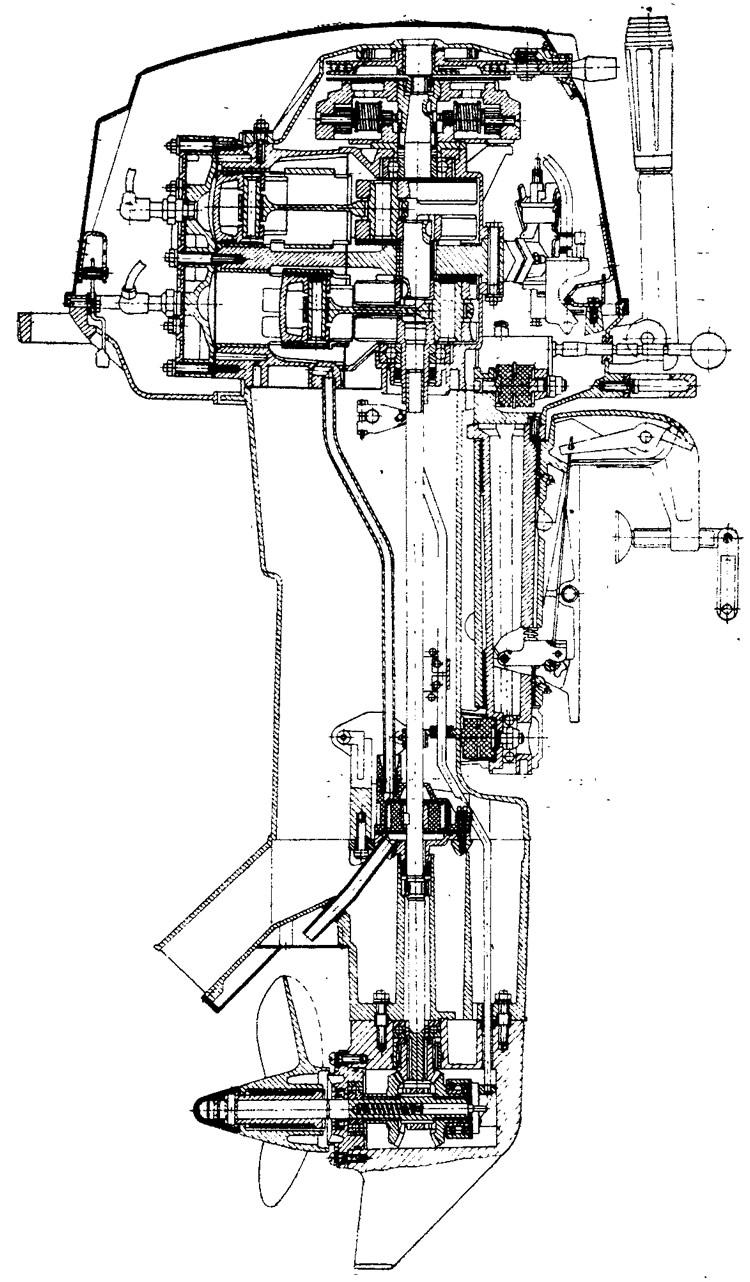 лодочный мотор в разрезе