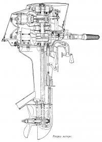 Разрез мотора