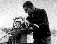Рекордсмен мира в классе мотолодок SB-350 Г. Черненко