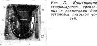 Рис. 10. Конструкция стационарного крепления с разметками для пяточной части