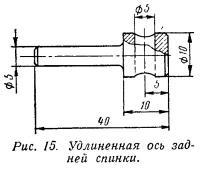 Рис. 15. Удлиненная ось задней спинки