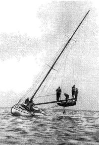Рис. 15. Закренивание сидящей на мели яхты