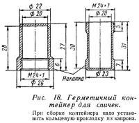 Рис. 18. Герметичный контейнер для спичек