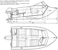 Рис. 19. Общая компоновка проектируемой моторной лодки минимальных размеров
