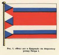 Рис. 1. «Флаг яхт и буерный» по Морскому уставу Петра I