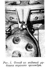 Рис. 1. Отвод из водяной рубашки верхнего цилиндра