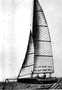 Рис. 1. Первая яхта на крыльях «Монитор»