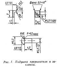 Рис. 1. Подушка прерывателя и заклепка