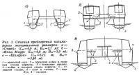 Рис. 1. Сечения крейсерских катамаранов минимальных размеров
